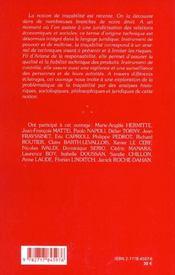 Tracabilite Et Responsabilite - 4ème de couverture - Format classique