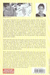 Rael journal d'une infiltree - 4ème de couverture - Format classique