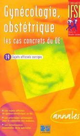 Gynecologie Et Obstetrique Les Cas Concrets Du D.E. - Intérieur - Format classique