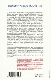 Dictionnaire des couleurs de notre temps - 4ème de couverture - Format classique