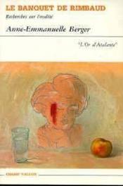 Banquet De Rimbaud - Couverture - Format classique