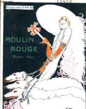 Moulin Rouge Music Hall - Programme. - Couverture - Format classique