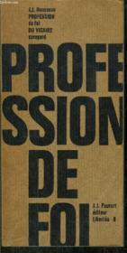 Profession De Foi Du Vicaire Savoyard - Collection Liberte N°8 - Couverture - Format classique