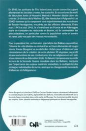 La division Handschar, waffen-ss de Bosnie, 1943-1945 - 4ème de couverture - Format classique