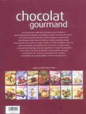Chocolat gourmand - 4ème de couverture - Format classique