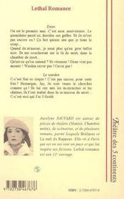 Léthal romance - 4ème de couverture - Format classique