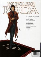 Niklos Koda t.8 ; le jeu des maîtres - 4ème de couverture - Format classique