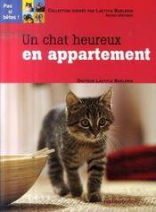Un chat heureux en appartement - Intérieur - Format classique