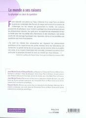 Le Monde A Ses Raisons - 4ème de couverture - Format classique