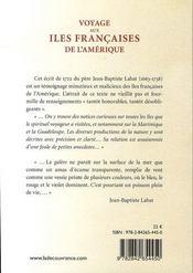 Voyage aux îles françaises de l'amérique - 4ème de couverture - Format classique