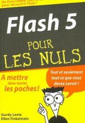 Flash 5 Pour Les Nuls - Intérieur - Format classique