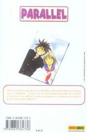 Parallel T.4 - 4ème de couverture - Format classique
