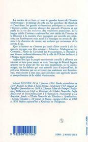 Histoire De L'Ile De La Reunion - 4ème de couverture - Format classique