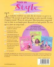 Trucs De Style Pour Filles Branchees - 4ème de couverture - Format classique