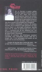 La gloire de Saucisse - 4ème de couverture - Format classique
