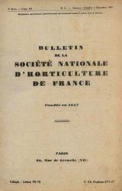 Bulletin de la société Nationale d'horticulture de France, fondée en 1827, 6e série, tome XII, n°4, octobre à décembre1945 - Couverture - Format classique