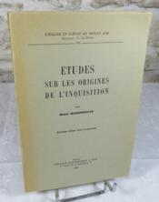 Etudes sur les origines de l'inquisition - Couverture - Format classique