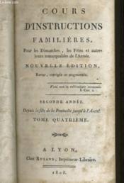 Cours D'Instructions Familieres Tome 4 - Couverture - Format classique