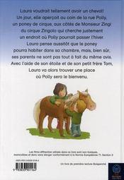 Laura et le poney du cirque - 4ème de couverture - Format classique