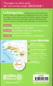 GEOguide ; Bretagne sud - 4ème de couverture - Format classique