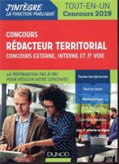 Concours rédacteur territorial ; externe, interne et 3e voie. tout en un ; concours (édition 2019) - Couverture - Format classique