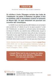 Andalousie ; vérités et légendes - 4ème de couverture - Format classique
