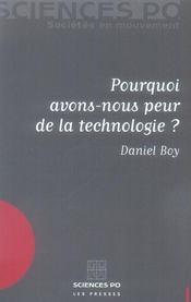 Pourquoi Avons Nous Peur De La Technologie ? - Intérieur - Format classique