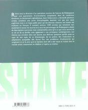 Dictionnaire shakespeare - 4ème de couverture - Format classique
