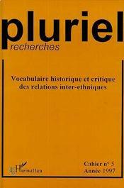 Vocabulaire historique - Couverture - Format classique
