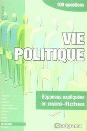 Vie politique - Intérieur - Format classique