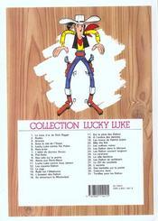 Lucky Luke T.1 ; la mine d'or de Dick Digger - 4ème de couverture - Format classique