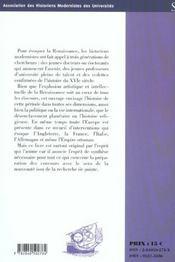 Renaissance. Bulletin De L Ahmuf 28 - 4ème de couverture - Format classique