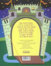 Le chevalier de la nuit étoilée - 4ème de couverture - Format classique