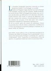 Charles Ier Roi De Portugal - 4ème de couverture - Format classique