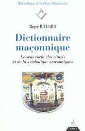 Dictionnaire Maconnique - Intérieur - Format classique