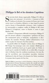 Philippe IV le bel - 4ème de couverture - Format classique