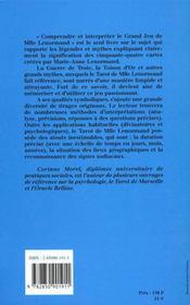 Le grand jeu de Mlle Lenormand - 4ème de couverture - Format classique