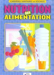 Nutrition-alimentation ; BEP sanitaires et sociales ; fiches - Intérieur - Format classique