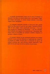 Introduction à la langue et la littérature aztèques t.1 ; grammaire - 4ème de couverture - Format classique