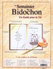 Les Bidochon HORS-SERIE ; pensées de chevet - 4ème de couverture - Format classique