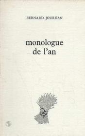 Monologue De L'An - Couverture - Format classique