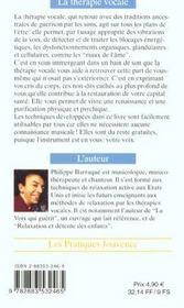 Therapie vocale (la) n.60 - 4ème de couverture - Format classique