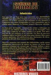 Infanticides - 4ème de couverture - Format classique