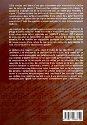 Roles masculins, masculinites et violence ; perspectives d'une culture de paix - 4ème de couverture - Format classique