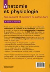 Anatomie et physiologie AS-AP (2e édition) - 4ème de couverture - Format classique