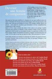 Devenir une femme de compassion - 4ème de couverture - Format classique