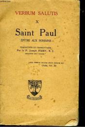 Verbum Salutis X. Saint Paul. Epitre Aux Romains. - Couverture - Format classique