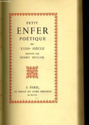 PETIT ENFER POETIQUE DU XVIIIe SIECLE - Couverture - Format classique