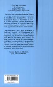 Un abécédaire - 4ème de couverture - Format classique