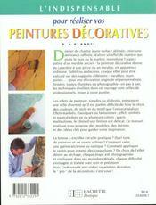 L'Indispensable Pour Poser Vos Peintures Decoratives - 4ème de couverture - Format classique